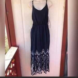 GiBON Latimer Gorgeous Navy Blue maxi Dress New